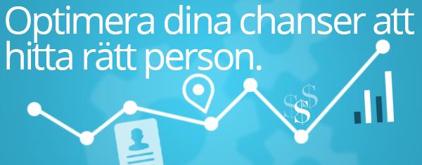 Optimera dina chanser att hitta rätt person.