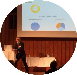 Per-Ove Andersson från ReachMee presenterar funktioner för att effektivisera rekrytering i nya versionen av ReachMee