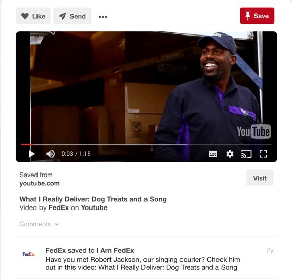 I am Fedex exempel på Employer Branding med hjälp av Pinterest