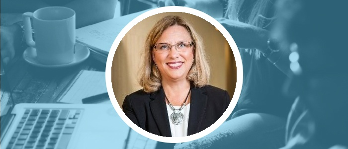 En bild på Gunilla Andersson som arbetar med rekrytering, HR och ledarskap